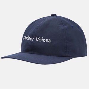OV navy blue nylon baseball cap hat white outdoor